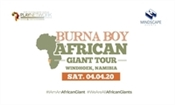 Burna Boy, African Giant Tour Windhoek, Namibia POSTPONED